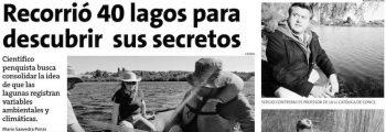 Recorrió 40 lagos para descubrir sus secretos